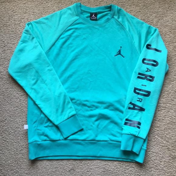 f2def36aa090 Jordan Other - Men s Air Jordan Teal Sweatshirt Size Xl Crewneck